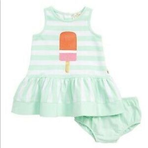 Mint green stripe Kate Spade dress 24 months